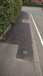 holmlands crescent path repair